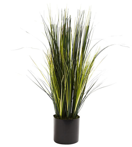 6766 Onion Grass Artificial Silk Plant by Nearly Natural | 3 feet