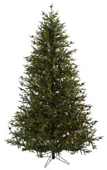 5373 Pine & Pine Cone Christmas Tree w/Lights by Nearly Natural | 7.5 feet