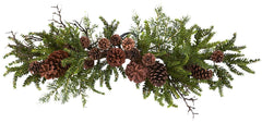 4943 Pine & Pine Cone Artificial Holiday Swag by Nearly Natural | 30 inches