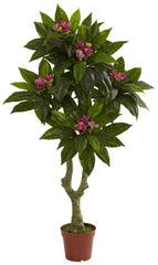 5394 Plumeria Indoor Outdoor Artificial Tree by Nearly Natural | 5 feet