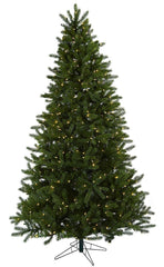 5376 Rembrandt Silk Christmas Tree with Lights by Nearly Natural | 7.5 feet