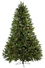 5377 Royal Grand Silk Christmas Tree w/Lights by Nearly Natural | 7.5 feet