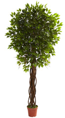 5379 Weeping Fig Ficus Indoor Outdoor Tree by Nearly Natural | 7.5 feet