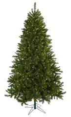 5374 Windermere Silk Christmas Tree w/Lights by Nearly Natural | 7.5 feet