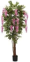 5349 Wisteria Artificial Silk Tree w/Planter by Nearly Natural | 6.5 feet