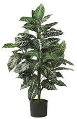 6542 Zebra Artificial Silk Plant with Planter by Nearly Natural | 3 feet