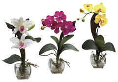 1339-A3-S3 Silk Orchids A3 Set of 3 in Water by Nearly Natural | up to 16 inches