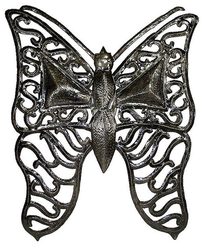 HMDA01-514004 Large Butterfly w/Filigree Wings Metal Art 15x20"