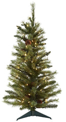 5441 Pine Cones Silk Christmas Tree with Lights by Nearly Natural | 3 feet