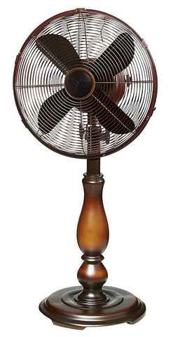 DBF0349 Sutter 12 inch Decorative Oscillating Table Fan by Deco Breeze
