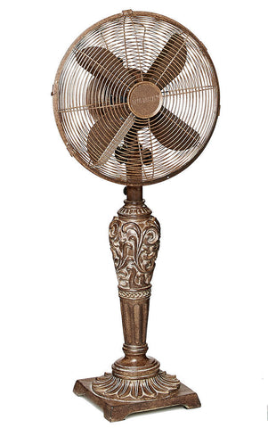 DBF0440 Cantalonia 12 inch Decorative Oscillating Table Fan by Deco Breeze