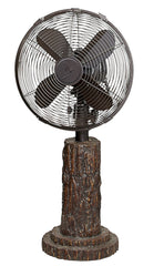 DBF0610 Fir Bark 10 inch Decorative Oscillating Table Desk Fan by Deco Breeze