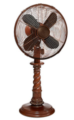 DBF0761 Raleigh 10 inch Decorative Oscillating Table Desk Fan by Deco Breeze