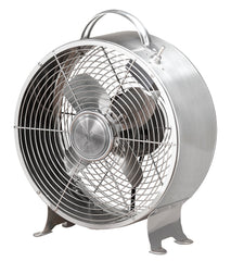 DBF5349 Retro Stainless 9 inch Small Metal Table Desk Fan by Deco Breeze