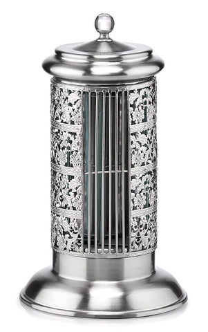 DBF5425 Bellevue Satin Chrome 14 inch Metal Table Tower Fan by Deco Breeze