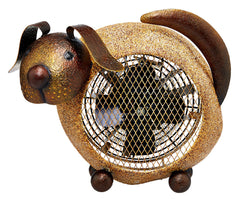 DBH5422 Dog Small Hand Painted Metal Heater Fan by Deco Breeze