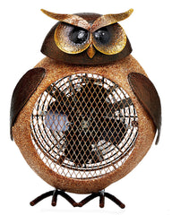 DBH5424 Owl Small Hand Painted Metal Heater Fan by Deco Breeze