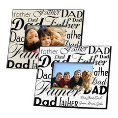 GC472 Dad Father in 2 Colors | Personalized Picture Frame for 4x6 Photo