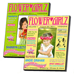 GC647 Flower Girl Magazine Cover 2 Colors | Personalized Frame 4x6 Photo
