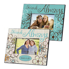 GC858 Friends Always in 2 Colors | Personalized Picture Frame for 4x6 Photo