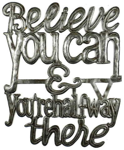 HMDIN03 Believe You Can & You're Halfway There Art 13x16"