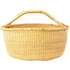 gh44 Natural Extra Large Bolga Open Storage Floor Laundry Basket | Ghana Fair Trade by Swahili Imports
