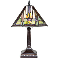River of Goods 13179 | Sante Fe Small Stained Glass 15.25 inch Accent Lamp | Image 1 - Main