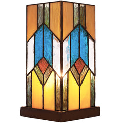 River of Goods 15223 | Mission Stained Glass 10.5 inch Hurricane Accent Lamp | Image 1 - Main