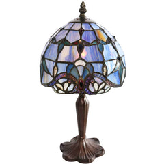 River of Goods 8197 | Allistar Blue Small Stained Glass 14 inch Accent Lamp | Image 1 - Main