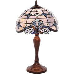 River of Goods 12152 | Allistar Blue Stained Glass 20.5 inch Table Lamp | Image 1 - Main