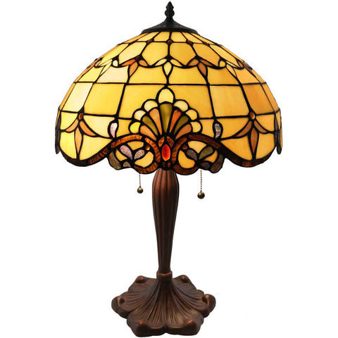 River of Goods 4281 | Allistar Stained Glass 24.75 inch Table Lamp in 2 Colors | Image 2 - Detail