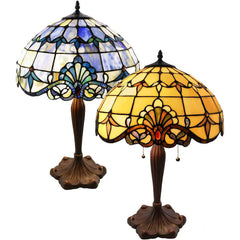 River of Goods 4281 4286 | Allistar Stained Glass 24.75 inch Table Lamp in 2 Colors | Image 1 - Main