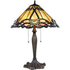 River of Goods 8325 | Brandi Amber Stained Glass 25.5 inch Table Lamp | Image 1 - Main