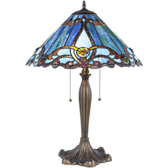 River of Goods 8665 | Brandi Blue Stained Glass 25.5 inch Table Lamp | Image 1 - Main