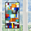 River of Goods 14728 | Abstract Java Decorative Stained Glass Hanging Window Panel | Image 5 - Lifestyle