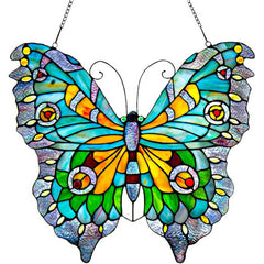 River of Goods 8889 | Swallowtail Butterfly Decorative Stained Glass Hanging Window Panel | Image 1 - Main