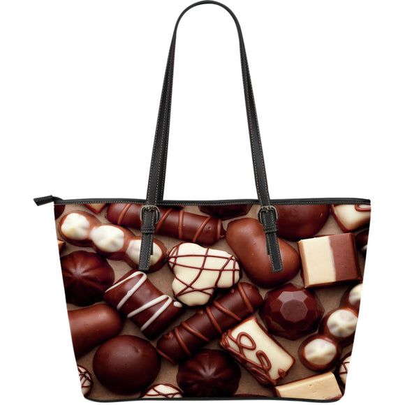 Chocolate Lovers Large Leather Large Tote