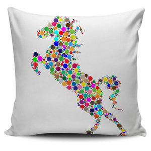 Rainbow Horse Pillow Cover