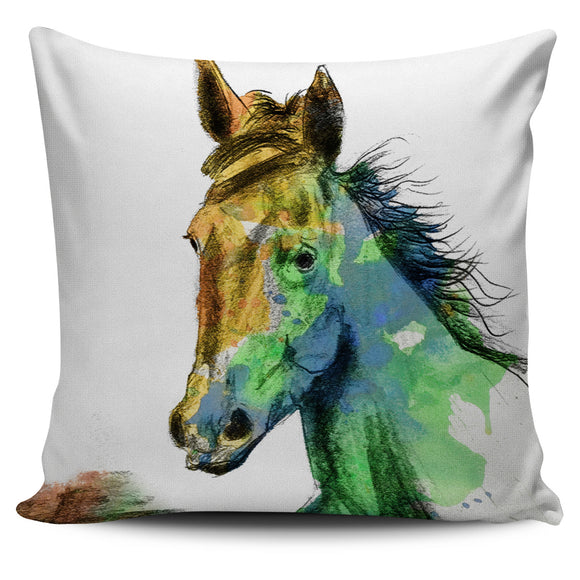 Horse Profile Pillow Cover