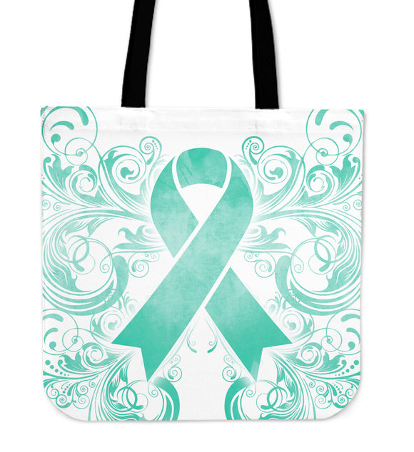 Cancer Awareness Teal 2 Tote