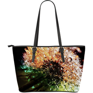 Large Leather Tote Dandelion Darling