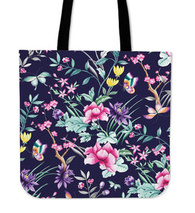 Floral Collection Canvas Tote Bag