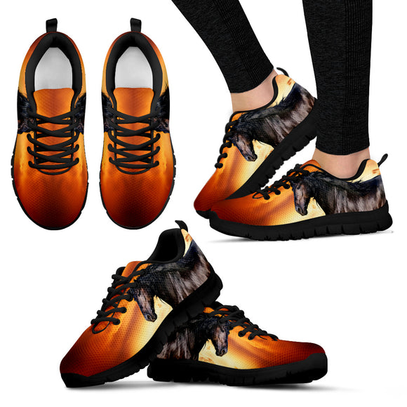 Horse Black Women's Sneakers