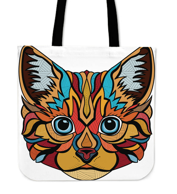 Ink Art Cat Tote Bag