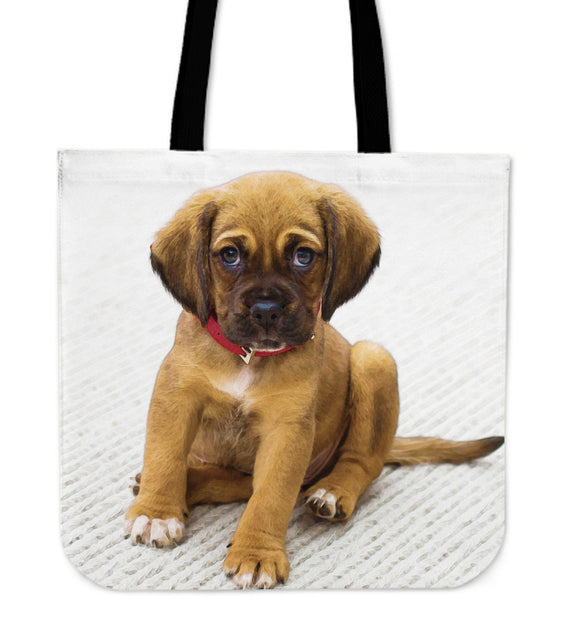 Tote Bag Puppy On Carpet