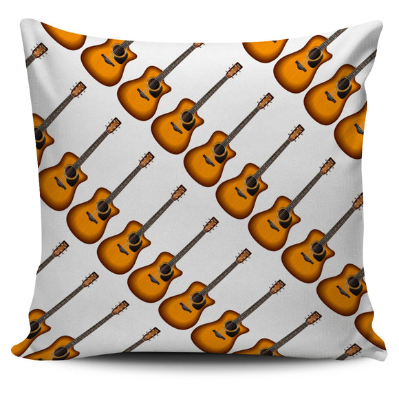 Guitar Print Music Pillow Cover