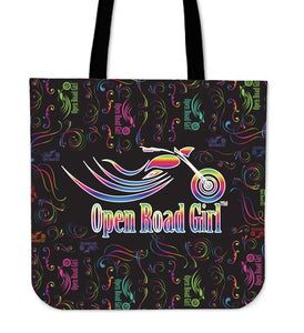 RAINBOW Scatter Open Road Girl CLOTH Tote