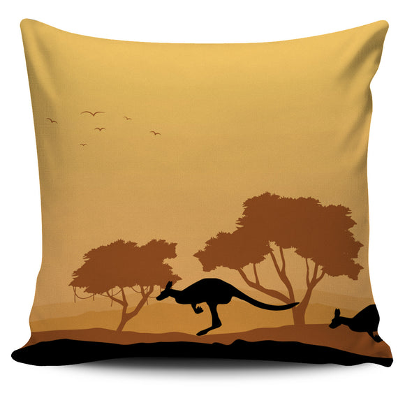 Australian Kangaroo Pillow Cover