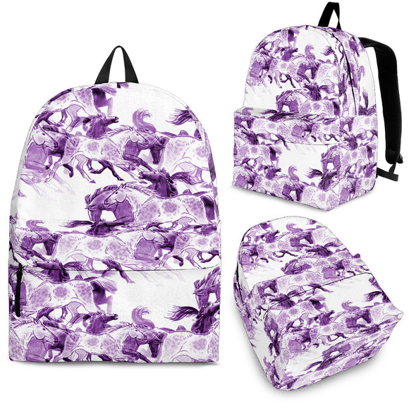 Purple Horse Backpack
