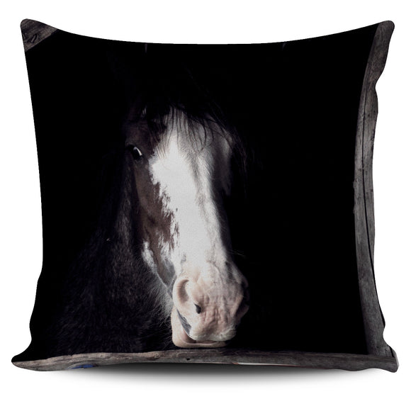 Black and White Horse Pillow Cover (2)